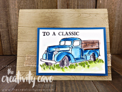 Check out my video tutorial for making this great Masculine Card using Stampin Up's Country Livin and Pinewood Plank Embossing Folder on my blog: www.thecreativitycave.com #stampinup #thecreativitycave #guygreetings