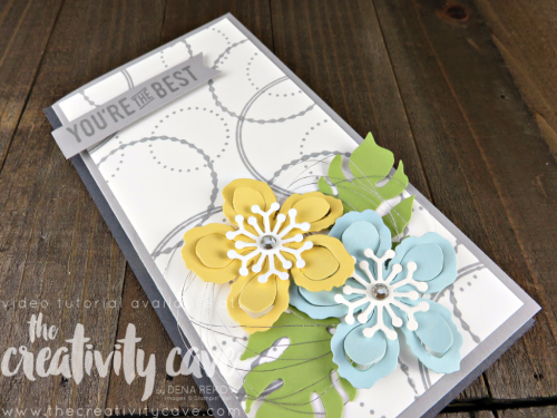 Check out the video tutorial for this adorable card using Stampin Up's Eastern Beauty Stamp set and Botanical Builder Framelits and coordinating Envelope using the Envelope Punch Board on my blog: www.thecreativitycave.com #stampinup #thecreativitycave #easternbeauty #urbandistrict