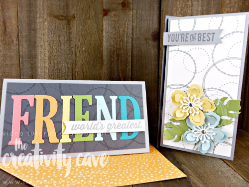 Check out the video tutorial for this adorable card using Stampin Up's Eastern Beauty Stamp set and Large Letter and Botanical Builder Framelits and coordinating Envelope using the Envelope Punch Board on my blog: www.thecreativitycave.com #stampinup #thecreativitycave #easternbeauty #urbandistrict #largeletterframelits