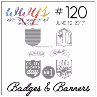 Check out my project with a video tutorial for Stampin Up's Badges and Banners Stamp Set at www.thecreativitycave.com #stampinup #thecreativitycave #badgesandbannersstampset