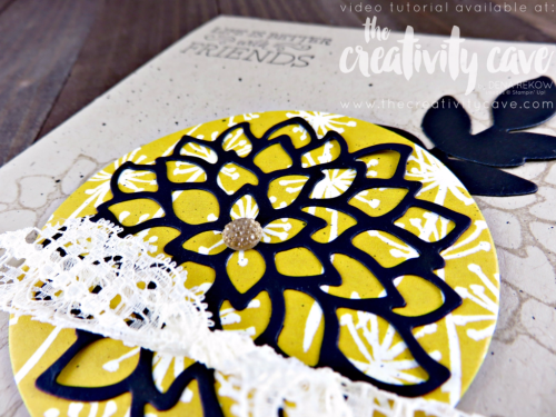 Check out a great video tutorial filled with fantastic tips for making this gorgeous vintage-style floral card using Stampin Up's May Flowers and Whole Lot of Lovely DSP at www.thecreativitycave.com #stampinup #thecreativitycave #mayflowers