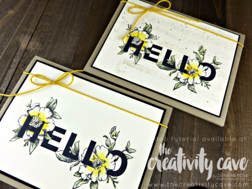 Check out the video for this gorgeous card and 3 more on my blog at www.thecreativitycave.com using Stampin Up's Floral Statements Stamp Set and Sheet Music Background Stamp! #stampinup #thecreativitycave #floralstatements #sheetmusicbackgroundstamp