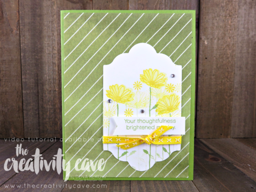 Check out my fun video tutorial for this adorable card using Stampin Up's Daisy Delight Bundle on my blog at www.thecreativitycave.com #stampinup #thecreativitycave #daisydelight