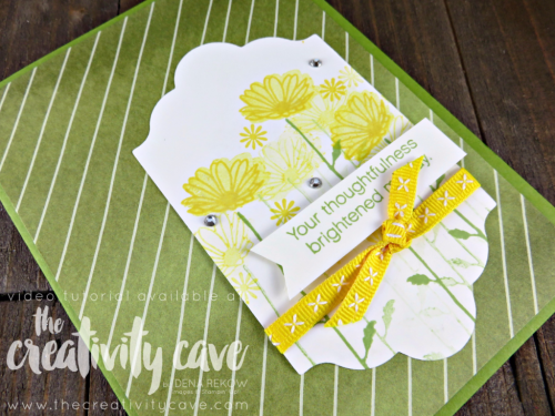 Check out the Video tutorial for this adorably simple card using Stampin Up's Daisy Delight Bundle (stamp set and punch) on my blog--and don't forget to register for the online class while you are there: www.thecreativitycave.com #stampinup #thecreativitycave #daisydelight
