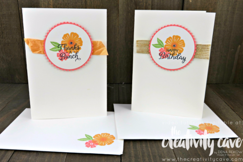 Check out the fun projects including this beautiful card using Stampin Up's Beautiful Bouquet Stamp set during my Weekly Facebook Live--recording is on my blog at www.thecreativitycave.com #stampinup #thecreativitycave #beautifulbouquet