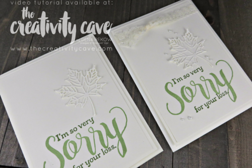 Check out the fun projects including this beautiful card using Stampin Up's Sorry For Everything Stamp set and GORGEOUS Seasonal Layer Thinlits during my Weekly Facebook Live--recording is on my blog at www.thecreativitycave.com #stampinup #thecreativitycave #colorfulseasons #sorryforeverything