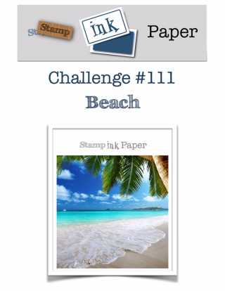 Join us for the Stamp Ink Paper Challenge this week where the theme is BEACH--check out my take on this them complete with a video tutorial on my blog at www.thecreativitycave.com #stampinup #thecreativitycave #sipchallenge