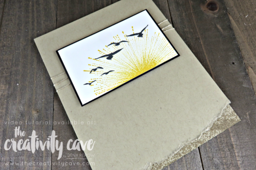 Check out my video tutorial on this gorgeous card using Stampin Up's Wherever you go and High Tide Stamp sets on my blog at www.thecreatviytcave.com #stampinup #hightide #thecreativitycave