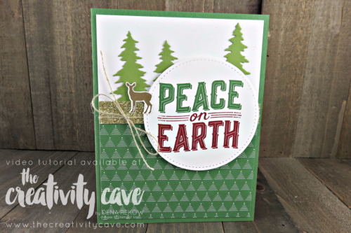 Check out the FB Live video on my blog for making this awesome card using Stampin Up's Special this month: Carols of Christmas Bundle (as well as my online class) on my blog: www.thecreativitycave.com #stampinup #carolsofchristmas #thecreativitycave