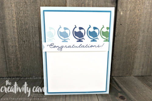 Quick and Easy card with a Video Tutorial for this super simple yet striking card using Stampin Up's Bookcase Builder Stamp Set on my blog at www.thecreativitycave.com #stampinup #thecreativitycave #bookcasebuilder