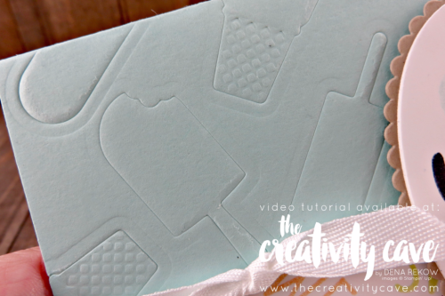 Check out my Friday Quickie Techniques and Tips Video for this fun and easy technique: Embossing With Framelits using Stampin Up's Frozen Treats Thinlits and Cool Treats Stamp Set on my blog at www.thecreativitycave.com #stampinup #thecreativitycave #cooltreats