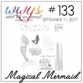 Check out my video tutorial for this beautiful Shaker Card using Stampin Ups Magical Mermaid Stamp Set on my blog, www.thecreativitycave.com #stampinup #thecreativitycave #magicalmermaid #shakercard