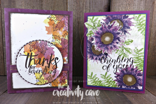 Video Tutorial for this an another beautiful Fall Card using Stampin Up's Colorful Season's Stamp Set and Painted Harvest Stamp Sets on my blog at www.thecreativitycave.com #stampinup #thecreativitycave #handmadegreetingcards #colorfulseasonsstampset #paintedharvest #Sheetmusicbackground #rubberstamping