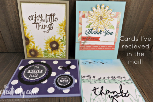 Fun cards I have received in the mail from friends and customers! www.thecreativitycave.com #stampinup #thecreativitycave #handmadegreetingcards