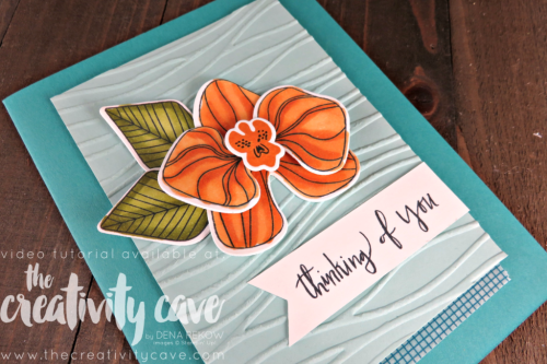 Check out this and 2 other cards on this week's FB Live Replay on my blog featuring Stampin Up's Climbing Orchid, Birthday Delivery, Bunch of Blossoms and Just add Text Stamp Sets as well as our new Stampin Blends Alcohol Based Markers at www.thecreativitycave.com #stampinup #thecreativitycave #stampinupdemo #stampinblends #alcoholmarkers #climbingorchid