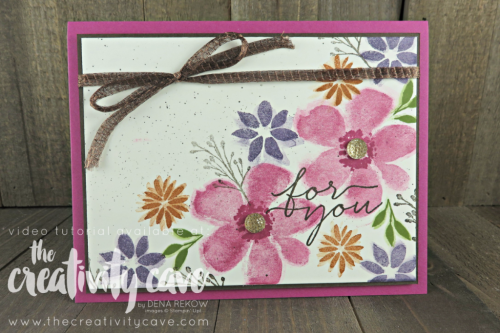 Gorgeous Fall Floral Card on my Facebook Live!  Check out the video and additional cards on my blog at www.thecreativitycave.com #stampinup #thecreativitycave #handmadegreetingcards #cardmaking #foryou #alloccasioncards #bloomsandwishes