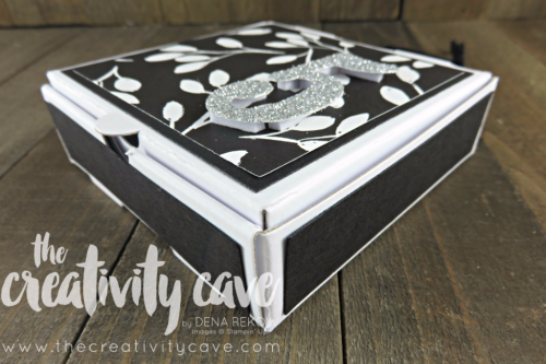 Check out the video tutorial for making an adorable ADVENT Calendar this Holiday Season using Stampin Up's Pizza Boxes, DSP and Large Number Framelits.  SO EASY to create!  www.thecreativitycave.com #stampinup #thecreativitycave #advent #christmas #Merrylittlechristmasdsp #largenumberframelits #Handmadepapercrafts #giftgiving #Silverglimmerpaper
