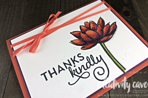 GORGEOUS coloring using Stampin Up's Remarkable You and One Big Meaning Stamp sets paired with our Stampin Blends Alcohol Markers from my FB LIve Video: Catch the Replay at www.thecreativitycave.com #stampinup #thecreativitycave #RemarkableYou #rubberstsamping #stampinblends #alcoholmarkers #Onebigmeaning #thankyoucard #handmadegreetingcards