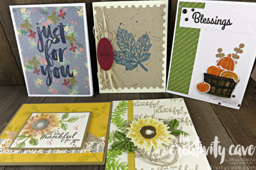Beautiful cards from my mail box!  www.thecreativitycave.com #stampinup #thankyou #paintedharvest #blessed
