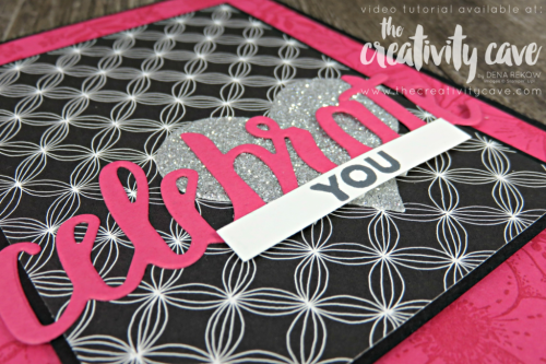 Check out the awesome video tutorial on this fun and easy layout featuring Stampin Up's Celebrate You Thinlits and Amazing You Thinlit Dies on my blog at www.thecreativitycave.com #stampinup #thecreativitycave #celebrateyouthinlits #amazingyoustasmpset #handmadegreetingcards #cardmaking #paper #scrapbookingpaper #bigshot #crafting #heart #pickapatterndsp #videotutorial