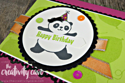 WWYS Party Pandas 2Check this adorable card (with video tutorial) using Stampin Up's Party Pandas Stamp set on my blog at www.thecreativitycave.com #stampinup #partypandas #thecreativitycave #handmadegreetingcards #wwyschallenge #create #crafting #diy #rubberstamping #stamping #cardmaking