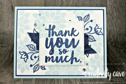 Check out the fantastic video filled with tips and tricks for this GORGEOUS card using Stampin Up's Flourishing Phrases and Thankful Thoughts Stamp Sets on my blog at www.thecreativitycave.com #stampinup #thecreativitycave #flourishingphrases #thankyou #handmade #crafting #diy #papercrafts #cardmaking #rubberstamping