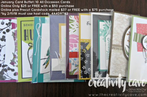 Register for the January Card Buffet Online Class or get it FREE when you purchase from my online store.  Details on my blog: www.thecreativitycave.com #stampinup #thecreativitycave.com or register here: https://ui.constantcontact.com/rnavmap/evp/hub/details?id=9007e140-1fca-4906-a398-879a5ad4f389 #stampinup #thecreativitycave #onlineclass #crate