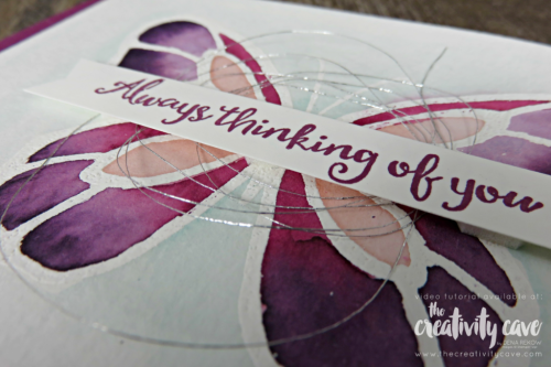 Fabulous Video Tutorial for this fantastic card plus two more highlighting 3 different coloring techniques on my blog at www.thecreativitycave.com #stampinup #thecreativitycave #coloring #cardmaking #papercrafts #rafting #diy #rubberstamping #stamping #beautifulday #watercolor