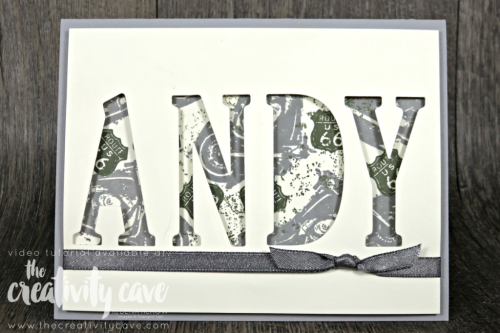 Check out the projects with video from my FaceBook Live Session including this and several other cards using Stampin Up Products on my blog at www.thecreativitycave.com #stampinup #thecreativitycave #create #handmadegreetingcarsd #rubberstamping #videotutorial #reverseeclipsecard #largeletterframelits #onewildride