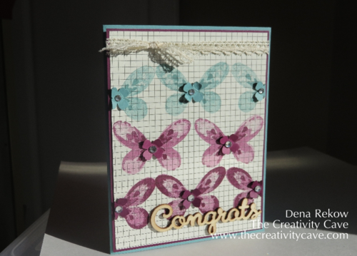 Watercolor Wings, #stampinup The Creativity Cave, Dena Rekow, Expresions Accents