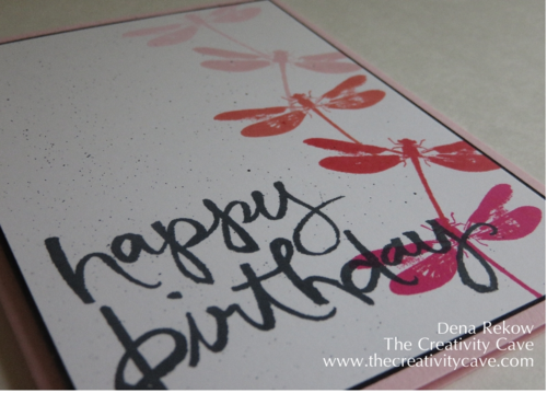 Friday Quickie Technique Tip by The Creativity Cave: Spritzing Your Cards with just a Marker