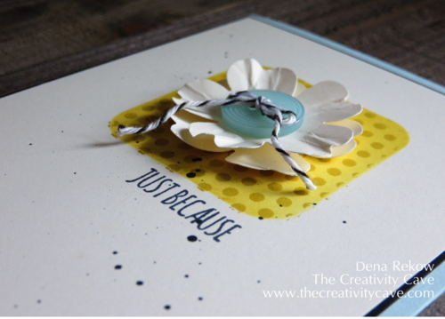 Friday Quickie: Framelit Stencils with Project Life Paper Clips Framelits and Dots for Days Background Stamp by The Creativity Cave
