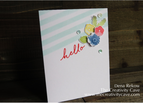 My Favorite Card from Stampin Up's Watercolor Wishes Card Kit