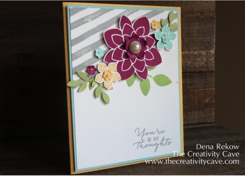 Amazing Final Product: Stampin Up's Watercolor Wishes Card Kit Inspired CASE with GDP#006