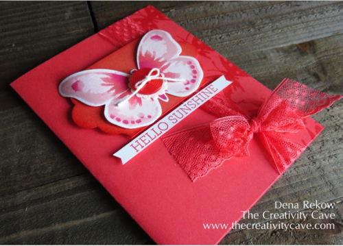 Sponge Shading using Stampin Up's Watercolor Wings