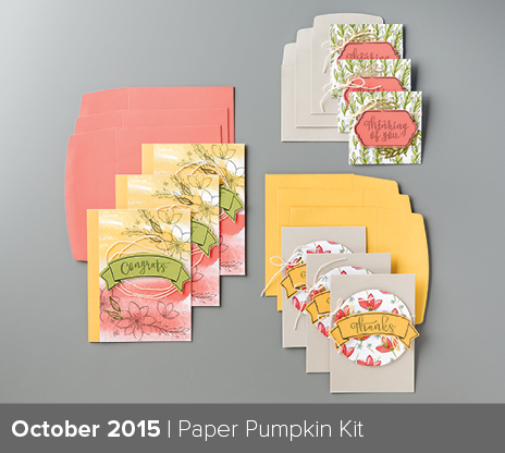 October Paper Pumpkin kit