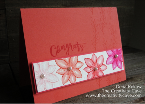 Beautiful Watercolored Card with an awesome video showing how easy it is to achieve this beautiful watercolor look