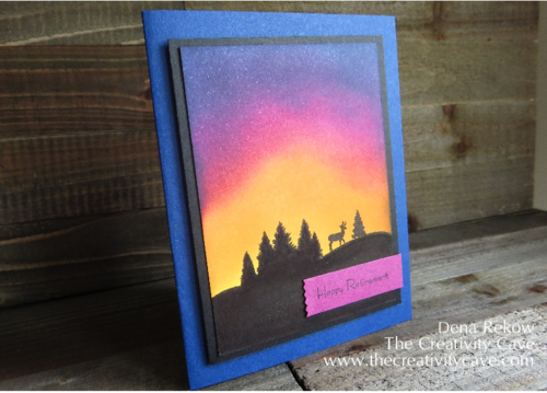 Awesome Backgrounds created with sponging using Stampin Up's To You and Yours Stamp Set