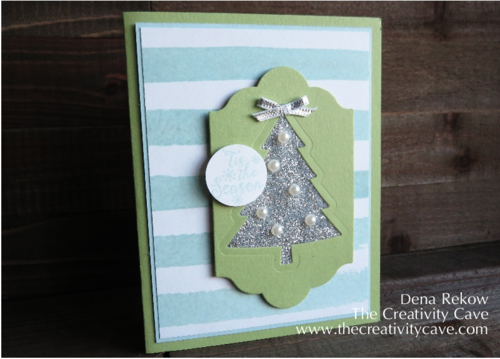 Add some glitter with the Packing Tape Technique using Stampin Up's Peaceful Pines Stamps and Framelits along with some glitter.  Check out awesome video tutorial on my blog along with more samples!