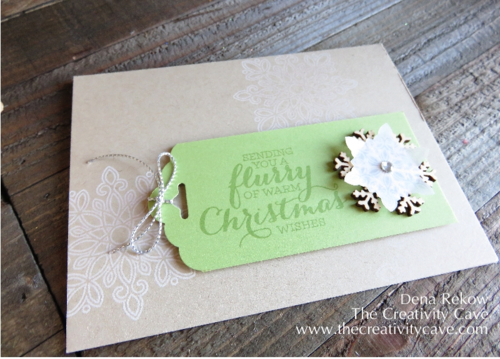 Stampin Up's Flurry of Wishes Stamp Set and Snow Flurry Punch Bundle make for fabulously quick and easy tags, cards and even gift wrap embellishments!!