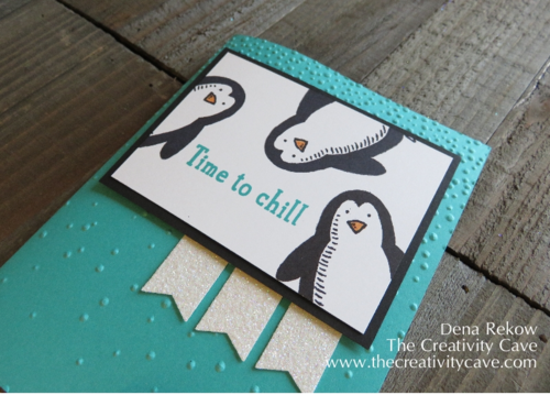 Stampin Up's Snow Place Penguins are so adorable for the SIP Sketch Challenge!