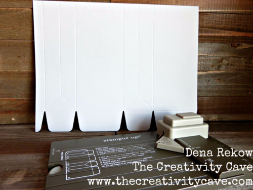 Using Stampin Up's Gift Bag Punch Board to create an adorable gift bag!