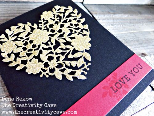 Use Stampin Up's Bloomin Love Bundle to create a gorgeous card with gold glimmer!  Video tutorial on my blog will teach you how easy this card is!