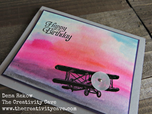 Watercolor Sky Background using Stampin Up's Sky Is the Limit with a video tutorial on my blog is easier than you think!