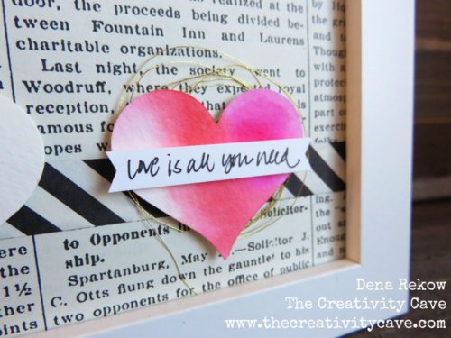 Easy Valentine Decor using a few supplies and a little watercolor!  Details and supplies on my blog with more ideas!