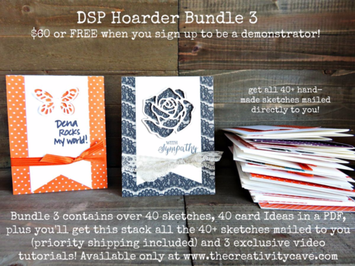 Check out the details on how to be inspired to use your Hoarded DSP/Printed paper/scrapbook paper you have tucked away!