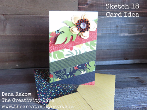 Gorgeous card made with Stampin Up's Botanical Garden Bundle with video tutorial on my blog.  Its part of my DSP Hoarder Sketch Ideas PDF.  Details on my blog!