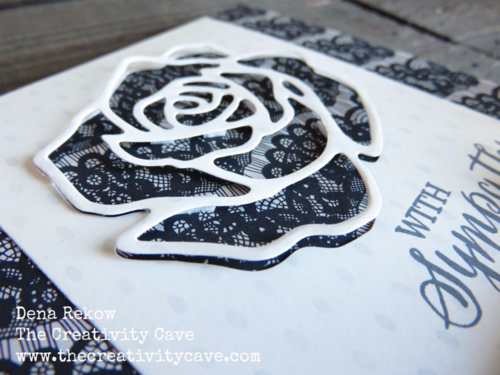 Stunning Sympathy card made with Stampin Up's Rose Wonder Bundle and Timeless Elegance DSP with video tutorial on my blog.  Its part of my DSP Hoarder Sketch Ideas PDF.  Details on my blog!