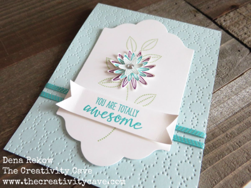 Stampin Up's Grateful Bunch Bundle make a great, easy card.  Check out the video and the alternative version of this card using the same supplies/layout!