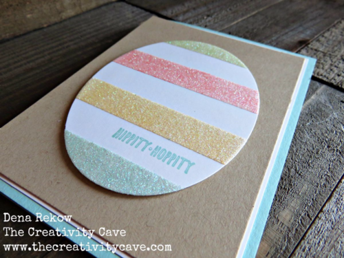 How to make a glitter egg!  Video tutorial on my blog along with all the supplies and more photos using Stampin Up's Metallic Glitter Tape!